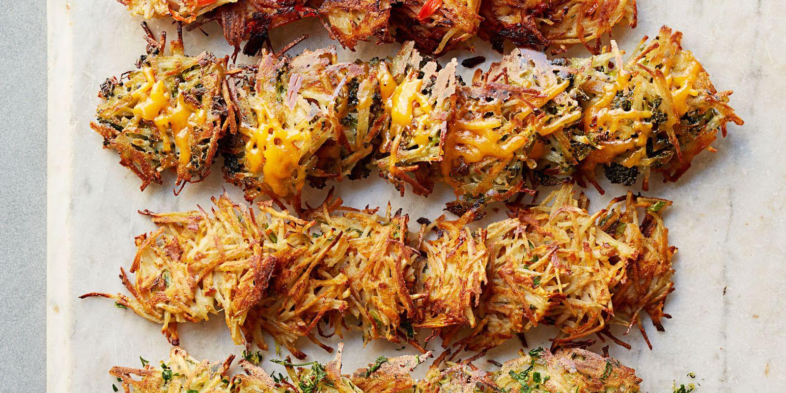 Garlicky Broccoli Cheddar Hash Browns Recipe