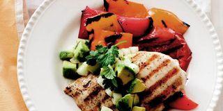 Spiced Chicken Tacos with Avocado and Pomegranate Salsa Recipe