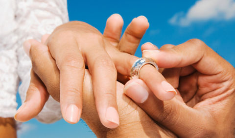 Girl with ring on right index finger dating