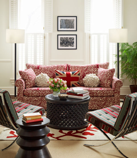 How To Decorate With Patterns Patterned Furniture - Row house living room design