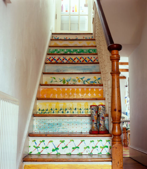 Painted Stair Ideas: How To Paint A Floor
