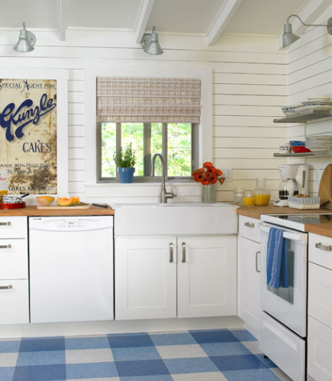 Blue Kitchen Themes: Red, White And Blue Rooms