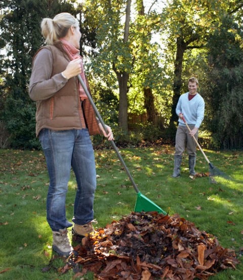 "In a world of gender equality, your husband probably gets mixed messages about what's expected of him. So he'll kill every spider and do all the yard work if he assumes you feel he's not pulling his weight in the relationship. Divide and conquer, lest he have ill will about handling the traditionally male chores solo. Pitch in raking leaves with him and deal with the occasional spider. ""Tell him that you want him to share with you,"" says Dr. Johnson. ""If he hates spiders, that's OK. But if killing the spider results in resenting you for not handling it, that's really scary."""