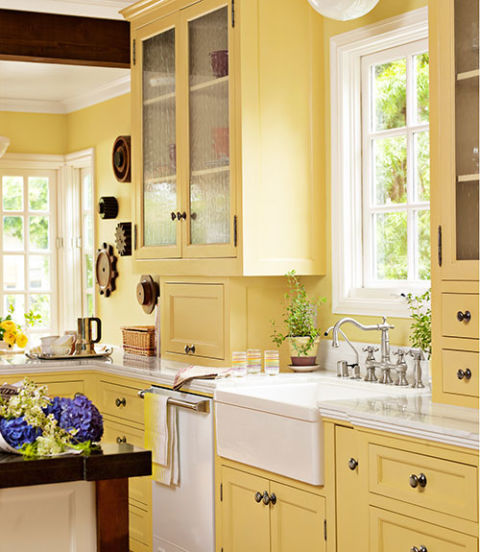 Yellow Paint For Kitchen Walls: Interior Paint Ideas