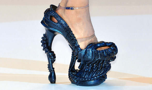 High Heeled Designer shoes by Alexander McQueen that are art pieces