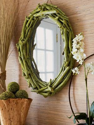 DIY espejo con ramas