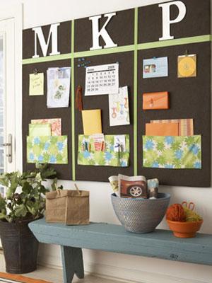 Make your own bulletin board at diy noteboard for Bulletin board ideas for kitchen