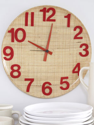 DIY Decorating: Retro Kitchen Wall Clock