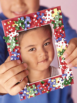 Easy craft for kids craft ideas for children at for Easy photo frame craft