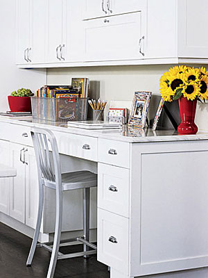 build a multi tasking command post in the heart of the home - Kitchen Desk Ideas