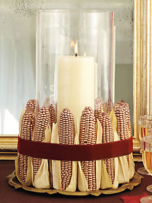 Holiday Centerpiece How To Indian Corn Vase