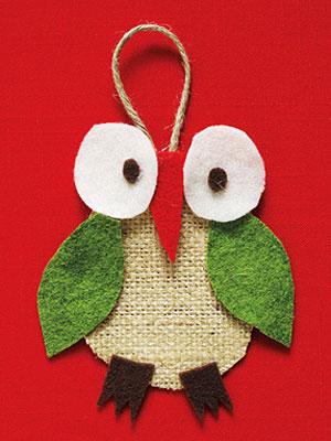 Christmas Owl Ornament Craft Diy Christmas Ornament Craft