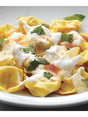 Tortellini with Yogurt, Mint & Smoked Paprika Oil Recipe ...