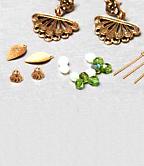 DIY Style: Green Beaded Dangling Earrings