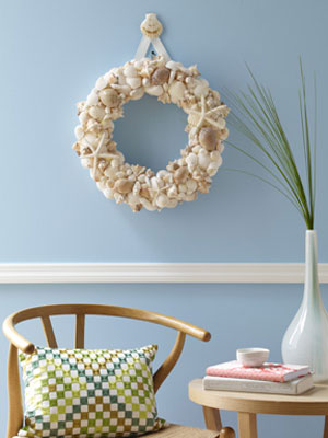 Craft how to seashell wreath at - Things to do with seashells ...