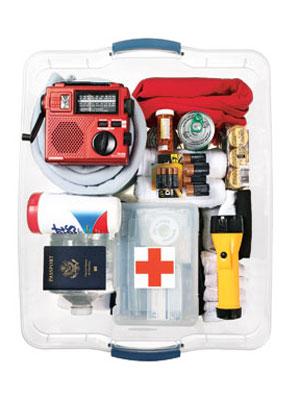 Natural disaster preparation kit
