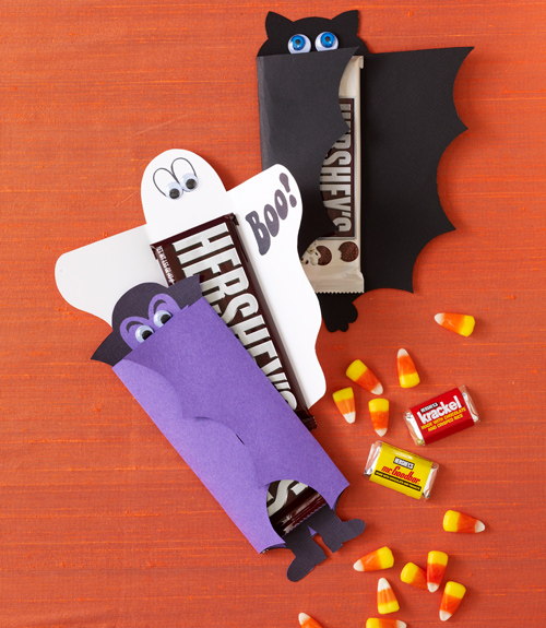 Cute candy wrapper dracula and ghost craft for Bat candy bar wrapper template