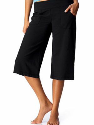 womens wide leg capri pants - Pi Pants