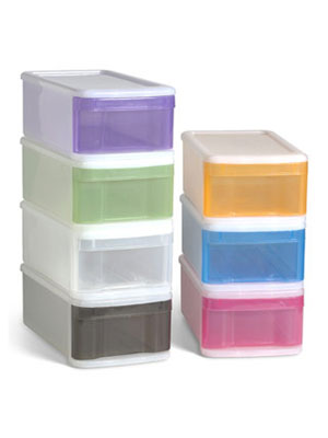 Wonderful The Fix: Lidless Plastic Bins. These Colorful Plastic Bins Pull Out Like  Drawers.