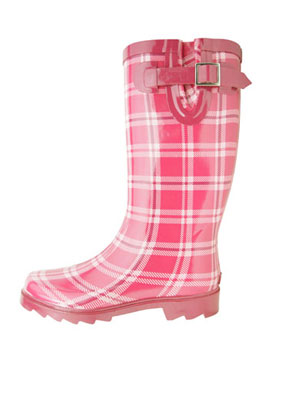 Pink Womens Rain Boots