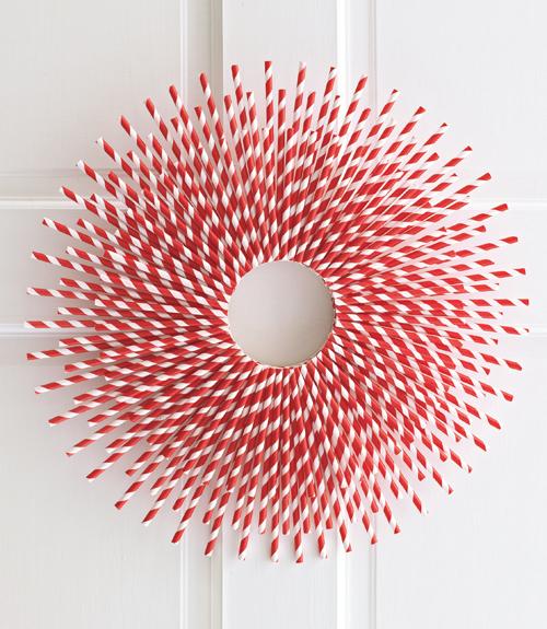 Straw burst wreath - Creer sa deco de noel ...
