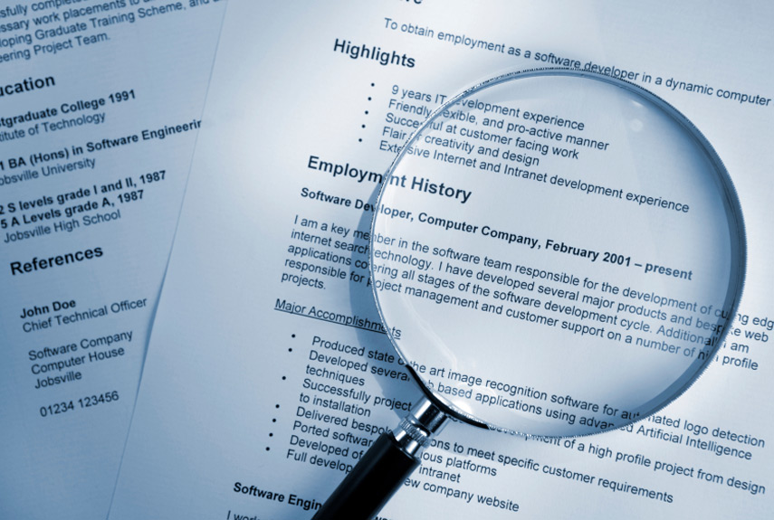 Resume Search dice search resumespost resume on dice be aware resume search linkedin search Magnifying Glass On Resume