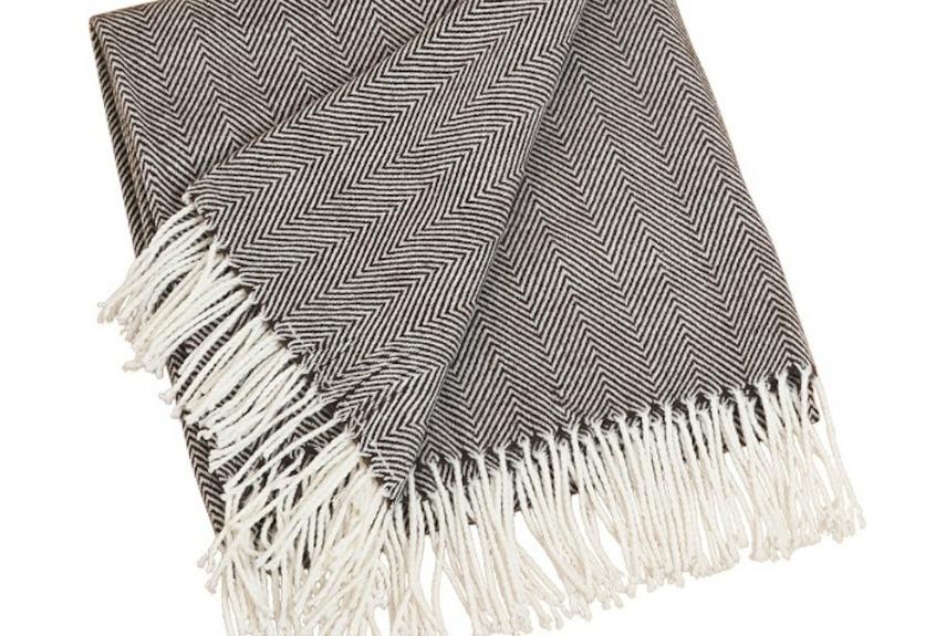 saro herringbone throw blanket. Winter Blankets   Cozy Blanket
