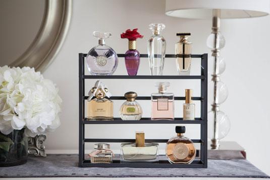 spice rack, perfume on spice rack, perfume bottles, perfume, pretty perfume bottles