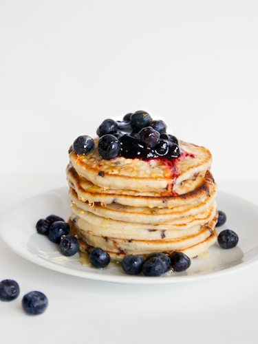 Blueberry Cottage Cheese Pancakes Recipe — Dishmaps
