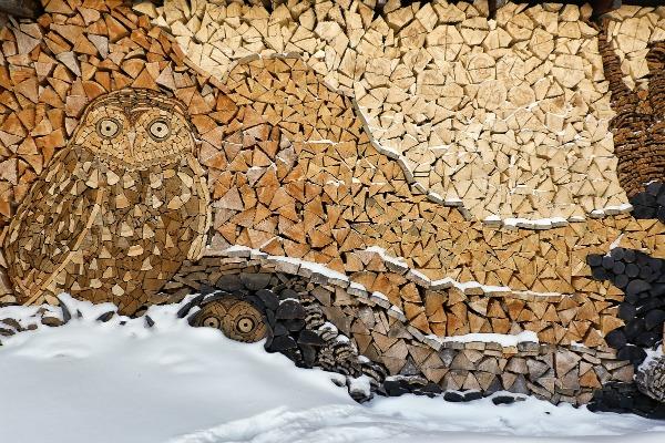 Wood art gary tallman woodpile for Woodpile fun craft ideas