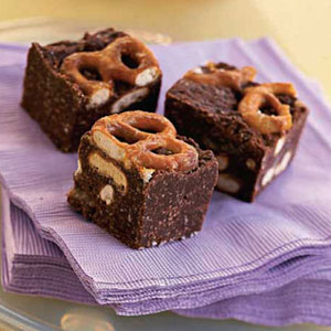 Sweet & Salty Pretzel Brownies Recipe at WomansDay.com ...