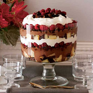 Easy Dessert Recipes Chocolate Raspberry Trifle Recipe