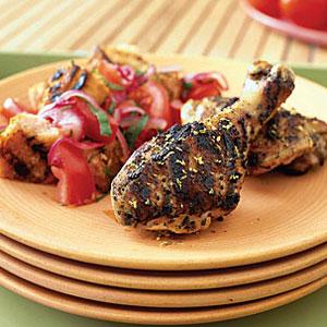 Lemon Rosemary Chicken With Bread Salad