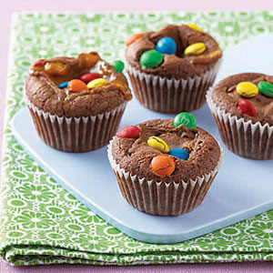 Snickers Brownie Bites at WomansDay.com- Chocolate Dessert Recipes