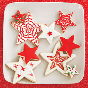 Lime Snowflakes and Ornaments