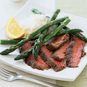 Orange Soy Beef With Asparagus