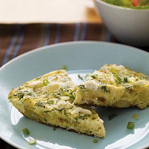 Greek Frittata and Salad