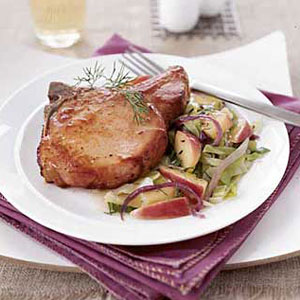 Smoked Pork Chops With Cabbage And Apples