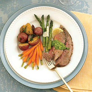 -Crusted Beef with Roasted Potatoes and Shallots Recipe – Beef ...
