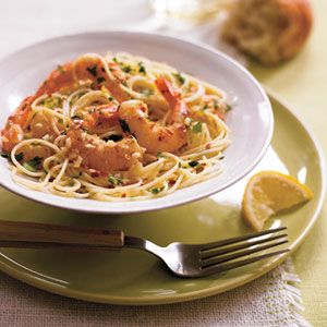 Garlic Shrimp with Angel Hair — Pasta Recipes