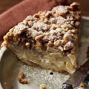Walnut Streusel Sour Cream Apple Pie