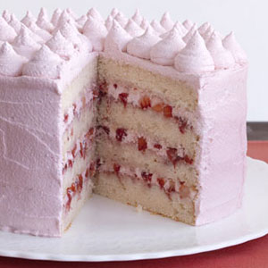 Strawberry valentine cake for Valentine cake recipes with pictures