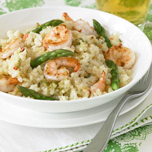 Shrimp and Asparagus Risotto - Easy Seafood Recipes