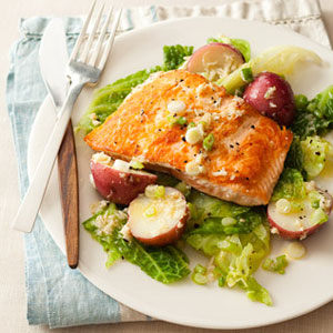 ... with Potatoes, Cabbage and Horseradish Vinaigrette - Fish Recipes