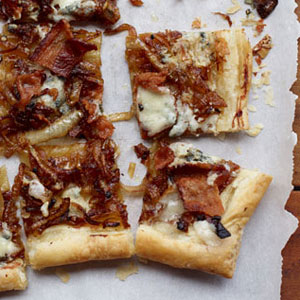 Caramelized Onion, Bacon & Blue Cheese Tart Recipe – Appetizer ...