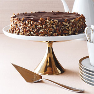 Flourless Chocolate Cake With Vanilla Buttercream Recipe — Dishmaps