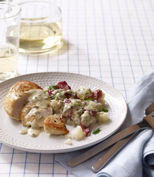Seared Chicken with Smashed Potatoes & Herbed Pan Sauce – Quick ...