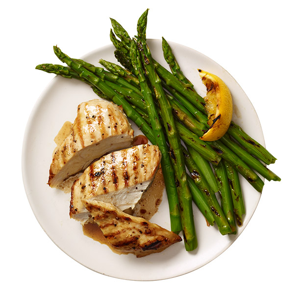 Grilled Lemon Chicken And Asparagus Recipe