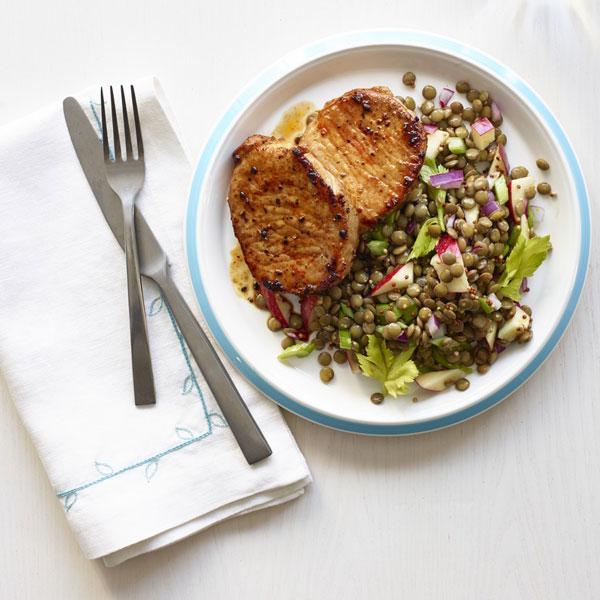 Red lentils pork recipe