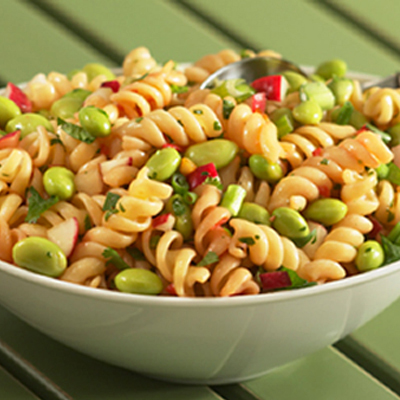 Sesame-Soy Edamame and Pasta Salad Recipe